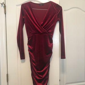 Nasty Gal Velvet Midi Dress